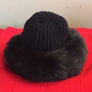 Hat with Fur Trim